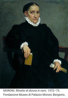 Giovanni Battista Moroni. Dama in nero. Bergamo, Palazzo Moroni