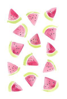 Watercolour watermelons // Sarah Jager Design #watermelons #watercolor #painting