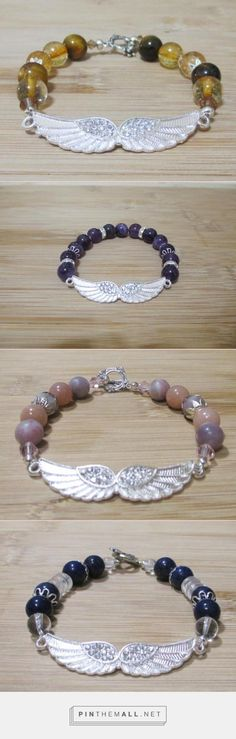 """Angel Wing Gemstone Bracelets for protection, manifesting, """"healing"""" and more. http://jamiproducts.com/product-category/jewelry/ - created via http://pinthemall.net"""