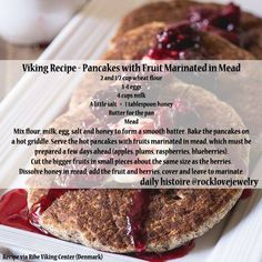 Viking Recipe - Pancakes With Fruit Marinated In Mead