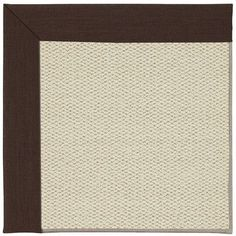 Capel Inspirit Linen Machine Tufted Cocoa/Beige Area Rug Rug Size: Square 6'