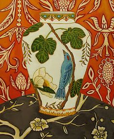 Catherine Nolin. *( I'm guessing but it looks like a water color, it's lovely.)