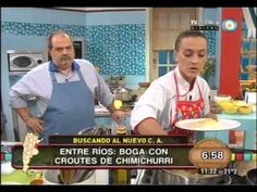 Restaurante El Olivo participando en Buscando el nuevo cocinero argentino: VIDEO Boga con croutes de chimichurri #EntreRios