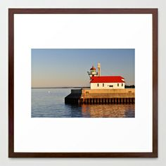 Canal Park Light House Framed Art Print