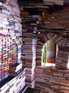 Castle made of books