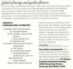 Salad of borage and garden flowers