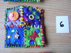 Patchwork brooch number 6 by MrsBellybuttonsfluff on Etsy, $12.00
