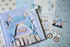 Baby Boy Newborn Photo Album Birthday Scrapbook Memory Album Interior Sky Blue Handmade Photoalbum Children Kids Castle Applique by MrLittleHedgehog on Etsy