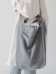 68 Ideas Sewing Bags Tote Style For 2019 Slouch Bags, Linen Bag, Fabric Bags, Cotton Bag, Handmade Bags, Diy Clothes, Sewing Clothes, Diy Fashion, Purses And Bags