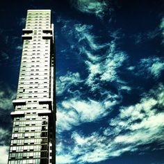 """@skytides's photo: """"#sky #building #clouds #cloudporn #nyc"""""""