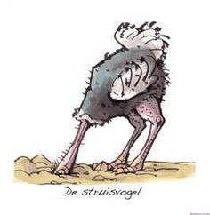 De struisvogel tactiek. Je kop voor een probleem in het zand steken.