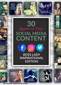 30 Ready To Post Social Media Content - Boss Lady Inspirational Edition #affiliate