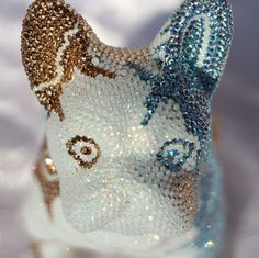 French Bruno by J. Edelweiss, French, Pearls, Bulldog Breeds, Art Sculptures, Crystals, French People, Beads, French Language