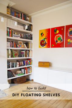 5 Healthy Cool Tips: Small Floating Shelves Night Stands floating shelf over couch diy projects.How To Build Floating Shelves Bedrooms floating shelves bedroom half baths.Floating Shelves With Lights Kitchen. Floating Shelves Books, Floating Shelf With Drawer, Floating Shelves Entertainment Center, Modern Floating Shelves, Reclaimed Wood Floating Shelves, Rustic Floating Shelves, Entertainment Units, Floating House, Home Design