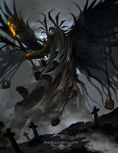 ArtStation - Terror Beyond the Grave II, Ramses Melendez Dark Creatures, Fantasy Creatures, Mythical Creatures, Dark Fantasy Art, Fantasy Artwork, Dark Art, Arte Dark Souls, Arte Obscura, Creature Concept