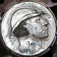ARCHIE TAYLOR HOBO NICKEL - 1935 BUFFALO PROFILE Hobo Nickel, Archie, Buffalo, Profile, Personalized Items, User Profile, Water Buffalo