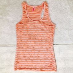 Pink ruffles tank top As shown.  In perfect condition 579 Tops Tank Tops