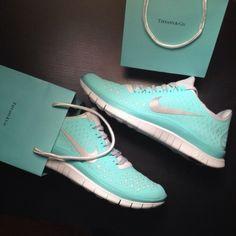 Tiffany + Nike  Running Shoes. I want!!