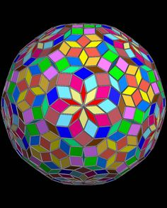 Zonohedron Featuring 870 Rhombic Faces of 15 Types.