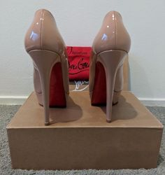 8f2b43eb2ad LOUBOUTIN US UK. 140 mm Platform Stiletto with Almond Toe. Original Box and  Duster Bag included to prove authenticity.