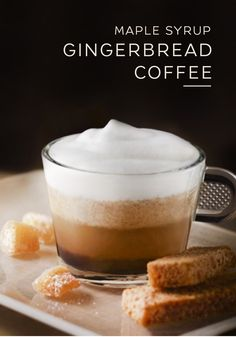 This easy Maple-Syrup Gingerbread Coffee recipe comes just in time for fall. Spicy gingerbread is wonderfully complemented by the sweet undertones of maple syrup. Use a capsule of Cosi Grand Cru to evoke all of the flavors of fall during your next Nespresso moment.