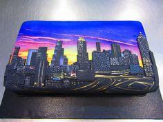 Atlanta Skyline Cake