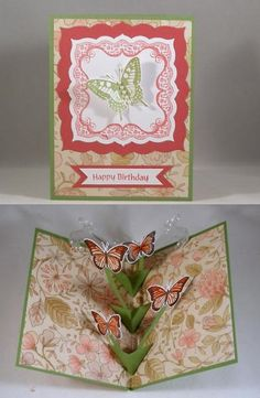 I love trying new techniques.  I found the technique for this Floating Pop-Up Card on the Technique Junkies CD called Move It.  I am entering it in the [url=http://ourdailybreaddesignsblog.blogspot.com/2015/07/odbdslc245-color-challenge.html]Our Daily Bread Designs Color Challenge[/url] this week.