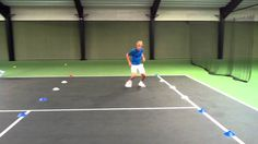 Lateral movement tennis drill physical training