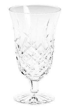 Waterford Crystal Araglin Footed Iced Beverage Glass, 14-Ounce Crystal Uses, Waterford Crystal, Party Cups, Party Tableware, Hurricane Glass, Wine Glass, Beverages, Table Settings, Crystals
