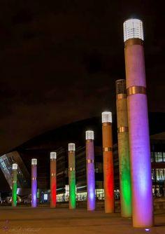 Cardiff Bay, City lights Cardiff Bay, Bay City, City Lights, Street Fashion, Cities, Ideas, Urban Fashion, Thoughts, City