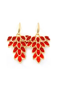 Marquise Chandeliers in Cerise on Emma Stine Limited.   I just Love these Earrings!                      d