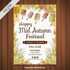 Floral spring powerpoint template presentationgo template watercolor happy mid autumn festival poster free vector toneelgroepblik Image collections