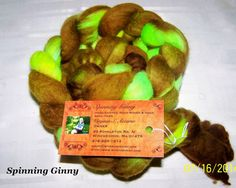 Hand Dyed Merino Roving  4 1/4 oz by Spinningginnys on Etsy (Craft Supplies & Tools, Fiber & Textile Art Supplies, Yarn & Roving, Roving, Spinning, Fiber, Wool Roving, Merino, Hand Dyed)