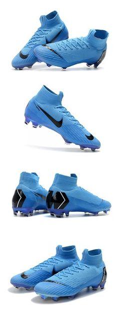 Nike Mercurial Superfly 6 Elite FG Zapatillas de Fútbol - Azul Negro 7c576c1af26ff