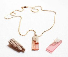 Marcel Dunger uses resin to 'mend' broken pieces of wood into jewelry