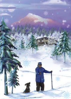 Dogs cross country ski also