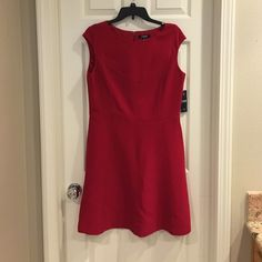 NWT Chaps dress This red dress takes you from the office to the opera!  Total length 35 inches. 19 inches pit to pit, and waist laying flat measures 16 inches across. Gorgeous and perfect for valentines, 4th of July, or the holidays.  Don't delay! Ships same or next day.  My bundle discount is 30% off 2+. Several others have listed this dress. Mine is brand new and lowest price (at this time on Posh). Please no crazy low offers :(  my bundle discount is very generous. Chaps Dresses