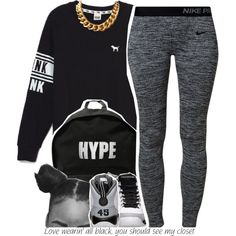 Last Onee, Goodnight! by trinityannetrinity on Polyvore featuring Victoria's Secret, NIKE and ASAP