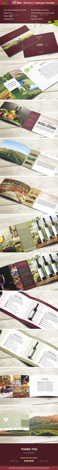 Wine Brochure / Catalogue — InDesign INDD #winemaker #catalogue • Download ➝ https://graphicriver.net/item/wine-brochure-catalogue/18772457?ref=pxcr