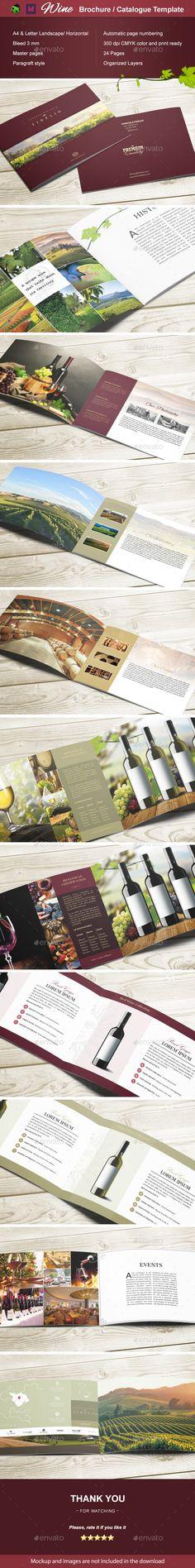 Wine Brochure / Catalogue — InDesign INDD #winemaker #catalogue • Download ➝ https://graphicriver.net/item/wine-brochure-catalogue/18772457?ref=pxcr
