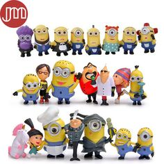Find More Action & Toy Figures Information about New Set 22 PCS Minions Despicable Me 2 Purple Action Figure 3D Eye PVC Doll Kids Toys Birthday Gifts Free Tracking,High Quality toy gift basket,China toy giraffe Suppliers, Cheap gift cans from M&J Toys Global Trading Co.,Ltd on Aliexpress.com