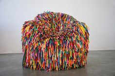 Happy Material Chairs    A different kind of colorful chairs created by Pini Leibovich, an industrial designer based in Isreal and graduated in Bezalel Academy of Art and Design, Jerusalem. The difference between this and the typical chairs are that these are made with a rather unusual material, balloons.