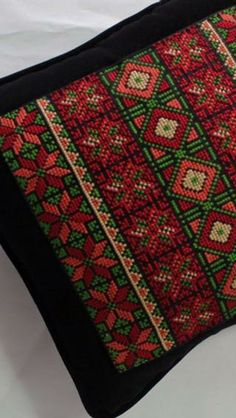 This Pin was discovered by Нат Cross Stitch Sampler Patterns, Cross Stitch Borders, Cross Stitch Designs, Cross Stitching, Cross Stitch Embroidery, Embroidery Patterns, Hand Embroidery, Cross Stitch Cushion, Palestinian Embroidery
