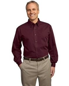 NEW-- Port Authority® Tall Tonal Pattern Easy Care Shirt- TLS613