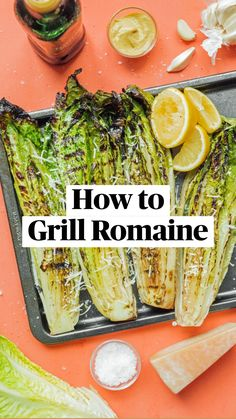 Vegetarian Recipes Easy, Healthy Salad Recipes, Vegetable Recipes, Healthy Snacks, Healthy Eating, Healthy Dinners, Vegetarian Food, Grilled Romaine, Grilled Vegetables