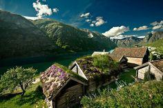 Otternes bygdetun in Aurland, Norway