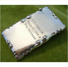 Antique Solid Silver WW1 Brit Military United Provinces Horse Card Case Trophy Listing in the Solid Silver,Silver,Antiques Category on eBid United Kingdom