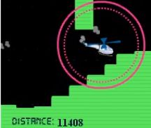 The helicopter game has become a classic. Like all highly addictive games, it is very simplistic, yet challenging. The premise is simple. You click and hold the mouse/touchpad button to make the helicopter rise up, and let go to make it descend towards the ground.