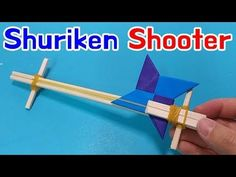 [Shuriken Gun] How to make Origami ninja star Shooter - YouTube