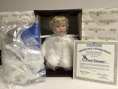 """Ashton Drake 76503 Heavenly Inspiration Collection Sweet Dreams 8"""" Tall Number 4031 FB"""